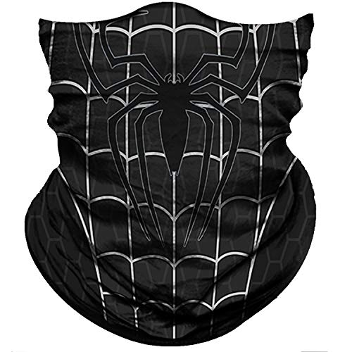 Obacle Face Mask Bandana Half Face Mask Dust Wind Sun Protection Durable Thin Neck Gaiter Seamless Tube Face Cover Mask for Men Women Motorcycle Fishing Bike Riding (White Net Black Mask)