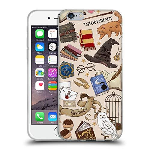 Head Case Designs Licenza Ufficiale Harry Potter Modello Hogwarts Deathly Hallows XXXVII Cover in Morbido Gel Compatibile con Apple iPhone 6 / iPhone 6s