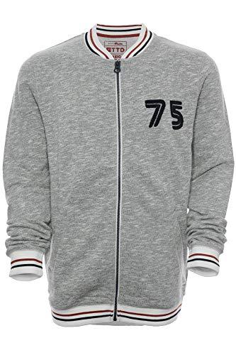 TOM TAILOR Sweatjacke Sweat Shirt Jacke Collegjacke Herren Langarm Baumwolle, Farbe:grau, Herrengrößen:M