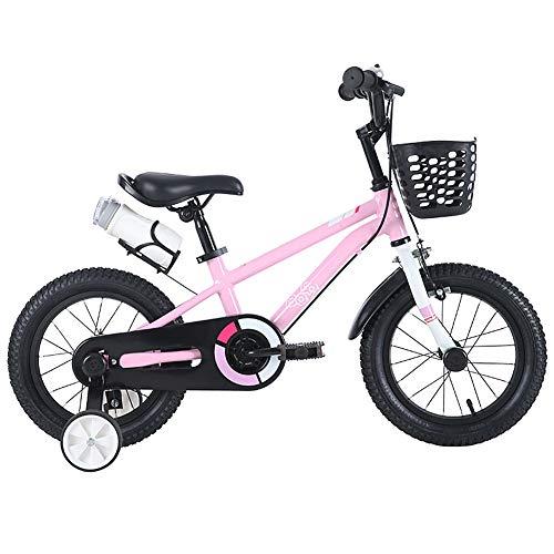Biciclette per Bambini 3-12 Anni Ragazzi e Ragazze, 14 Pollici, 16 Pollici, 25 Pollici Bambini Bicicletta, con Ruote di Allenamento e Freni a Mano, stabilizzatori, Borraccia, Supporto.