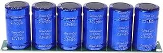 Farad Capacitor 2.7V 500F 6 Pcs/1 Set Super Capacitance with Protection Board