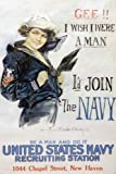 NAVY WWII recruiiting POSTER for WOMEN rare patriotic 24X36