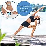 Beurer EM 49 TENS/EMS digital, dispositivo de corriente de estimulación 3 en 1 para el alivio del dolor y entrenamiento a través de la estimulación eléctrica, función de masaje, incluye 4 electrodos