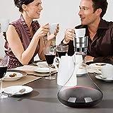 BEYIMEI Wein Dekanter Belüfter, Dekantierer mit Ausgießer Deckel, Mundgeblasenem Weinkaraffe aus Kristallglas für Rotwein, Einzigartige Weingeschenke (1700ml) - 8
