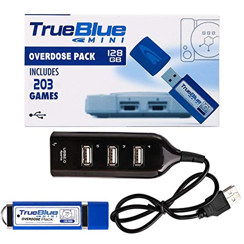 TETAKE True Blue Mini Overdose Pack mit 203 Spiel für Playstation Classic - 128GB