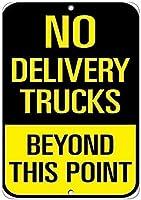 ヴィンテージアルミレトロメタルサイン配送トラックなしこのポイントを超えてトラフィックヴィンテージレトロ家の装飾金属看板アートインテリアティンサインポスター