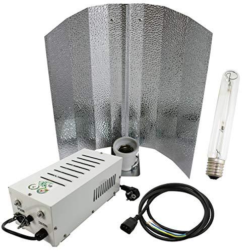 Cultivalley 600W Grow-Set, Profi Pflanzenbeleuchtung, Plug & Play Bausatz mit NDL Natriumhochdruck-Leuchtmittel für die Blüte HPS, Pflanzenlicht