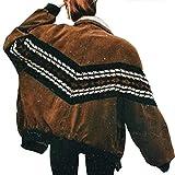 Katenyl Chaqueta de manga larga con costura a la moda para mujer, abrigo grueso informal con solapa relajada y cálida con cremallera, otoño e invierno 4XL