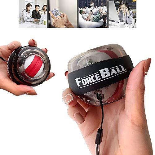 SSeir Wrist LED Lights Powerball Autostart Gyroscopes, Strengthener Arm Training Equipment Power Exerciser Rehabilitation Rotation Ball Decompression Toy