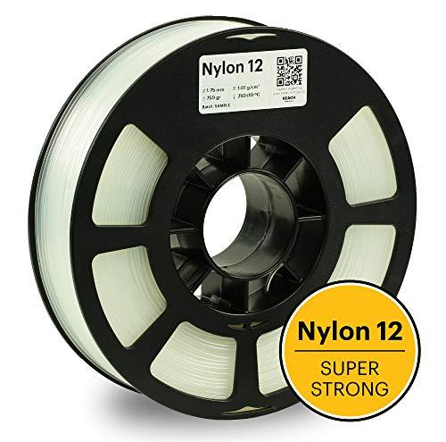 KODAK 3D printer filament NYLON 12 NATURAL color, 0.03 mm, 750g (1.6lbs) Spool, 1.75 mm. Lowest moisture premium filament in Vacuum Sealed Aluminum Ziploc bag. Fit Most FDM Printers