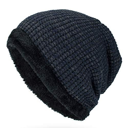 SYC Gebreide muts Winter Plus Velvet Thickkened Outdoor Headgear voor heren
