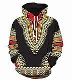 XiaoHeJD Männer Lustige Hoodies Print Psychedelic Afrikanische Nation 3D Hoodies Unisex Hip Hop Sportswear Casual Hoodie-L, DW-26