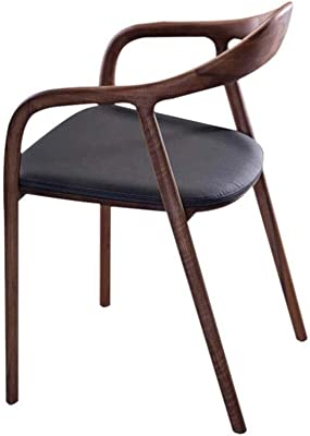 WALNUT Solid Wood Chair, Nordic All Solid Wood Chair Simple Dining Chair Luxury Leisure Office Chair