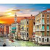 GuDoQi Puzzle 500 Piezas Gran Canal Venecia Puzzle para Adultos Rompecabezas Italia Paisaje Juego Familiar Decoración del Hogar Regalo de Navidad