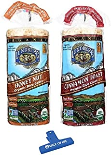 Lundberg Organic Gluten-Free Non-GMO Rice Cakes 2 Flavor Variety Bundle, (1) Each: Honey Nut and Cinnamon Toast, 9.5-10 Ou...