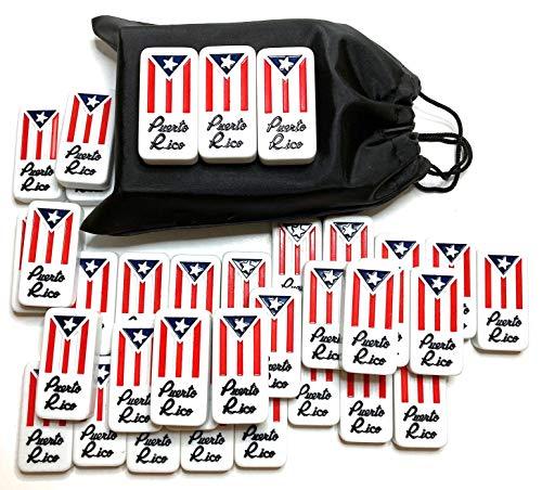 Puerto Rico Dominoes Bag Set Domino Game Tiles Boricua PR Puerto Rican Classic Must Have (Solo Dominoes)