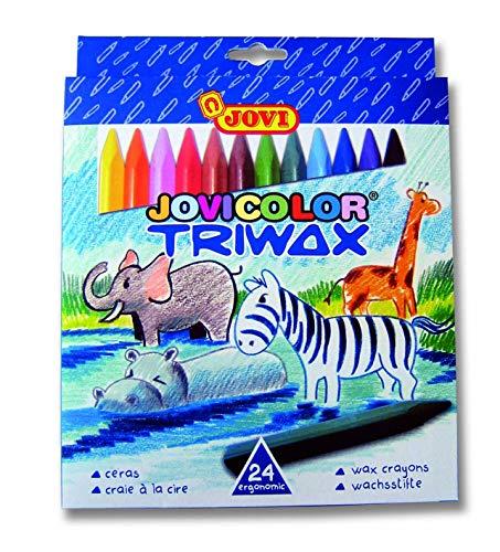 Jovi Triwax Triangular Crayons; Set of 24