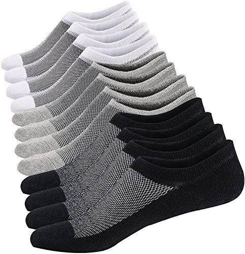 JFAN Calcetines Tobilleros de Algodón para Hombre Calcetines Escotados Casuales para Hombre 6 Pares
