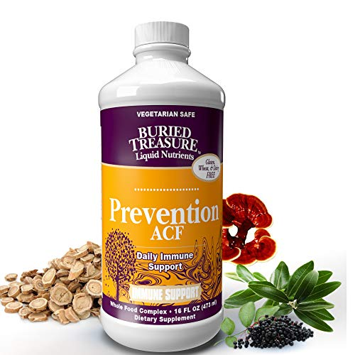 Prevention ACF Daily Immune Support with Vitamin C, Elderberry and Featuring EpiCor Whole Food Fermentate 16 oz Buried Treasure Vitamin C Vitamins