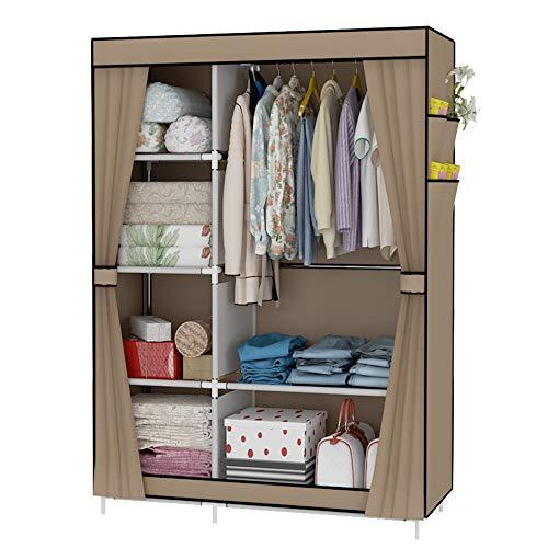 UDEAR Armario Closet Organizador Plegable para Ropa Ropero Resistente al Polvo Guardarropa 105 x 45 x 170 CM