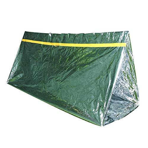 MOC Lot de 3 tentes d'urgence Sac de couchage chaud Pour extérieur Étanche Protection contre le froid Ultra légère Pour le camping la randonnée les premiers secours Protection contre la chaleur