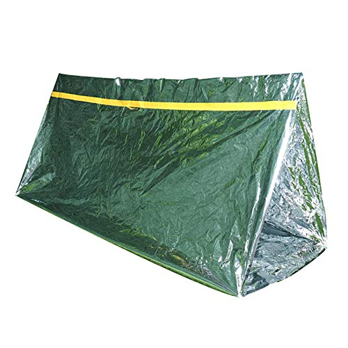 MOC 3 unidades de tienda de campaña de emergencia, saco de supervivencia, saco de dormir cálido, para exterior, impermeable, protección contra el frío, ultraligera, tienda de rescate para camping