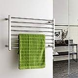 NiuDian Elektrischer Handtuchhalter Bad Wäscheständer Edelstahl Bad Handtuchhalter Handtuchhalter Regal 304 Anhänger(2)