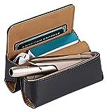 MSHOLY Custodia Protettiva per Sigarette elettroniche in Pelle Sintetica - Custodia per Sigarette elettroniche Custodia per Custodia - Caso di Protezione 3.0 (Color : Polyuréthane - Noir)