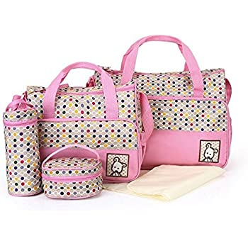 modelo 2160 rosa 2160-Pink Bear impermeable Bolsa de pa/ñales con cambiador