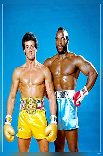 PosterHub Póster de Rocky Balboa/Sylvester Stallone con acabado mate en papel (multicolor) HS-1783