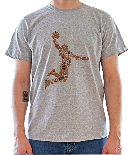 Basketball Player Made out of Game Parts Mens T-Shirt X-Large
