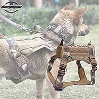 YULINGTRADE 軍事 戦術 犬 Molle 狩猟 犬 ベスト 犬ハーネス ベスト ウォーキング ハイキング 狩猟 M/L/XL (Color : Tan, Size : XL)