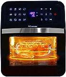 Nictemaw - Friggitrice ad aria calda da 12 litri, con 12 programmi, forno ad aria calda da 1700 W, con display LED, regolazione della temperatura, timer e 5 accessori