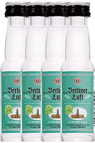 Berliner Luft Pfefferminzlikör 4x0,02 Liter