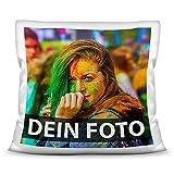 Foto-Kissen Selbst gestalten (40 x 40 cm) - weiß - mit Foto individuell Bedruckt/Inkl....