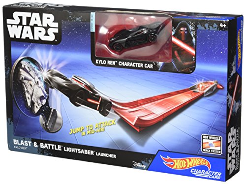 Hot Wheels Star Wars Sable Láser Blast & Battle - Kylo Ren Vehículo Lanzadera