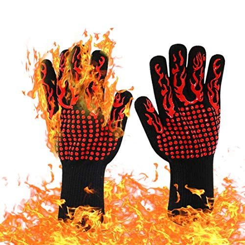 H&RB Gants résistants à la Chaleur - Gants pour Barbecue, Parfaits pour Les grillades au Barbecue Cuisson au Four