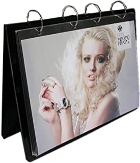 Flip Page Acrylic Sided Frames Desktop Display Holder V Shaped Double Sided Table Menu Stand, Ad,Calendar or Photo Clip 13 Shows 26 Photos Photography Studio/Album(