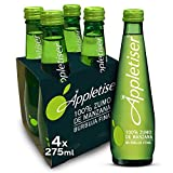 Appletiser - Refresco de Manzana natural con burbuja fina - Pack 4 botellas de vidrio 275 ml