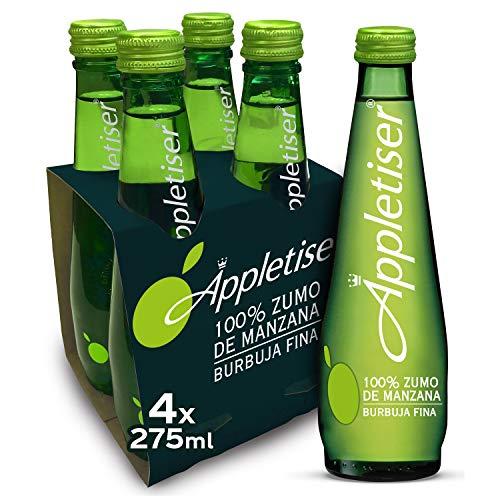 Appletiser - Refresco de Manzana natural con burbuja fina - Pack 4 botellas de vidrio 275 ml
