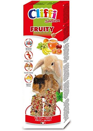 Cliffi Barritas Conejo y Cobaya Fruta 2und