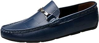 [LANSI] レンシー メンズ 牛革 ドライビングシューズ 紳士靴 ローファー 撥水 スリッポン 通気性 歩きやすい 軽量 ビジネスシューズ ファッション
