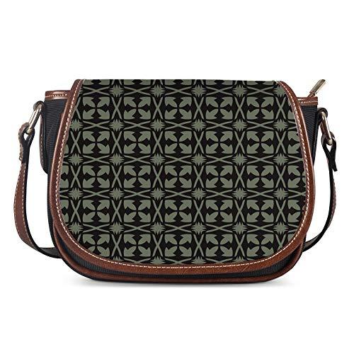 Lady Bags, Bolsos de Las Mujeres Messenger Ladies Bolsa de Hombro Bolsa de niña Creatividad Exterior Femenina Saddle CASA Bolso Crossbody,Negro