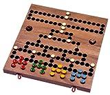 Blockade - Würfelspiel - Strategiespiel - Gesellschaftsspiel - Brettspiel aus Holz mit faltbarem Spielbrett