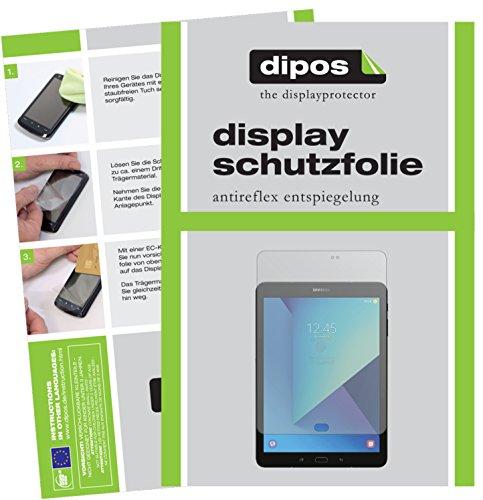 dipos I 2X Schutzfolie matt kompatibel mit Samsung Galaxy Tab S3 Folie Bildschirmschutzfolie