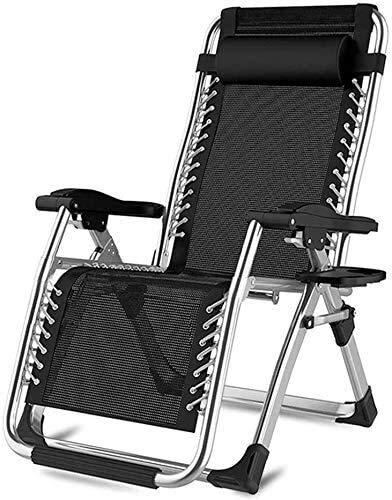 ADHW - Tumbona reclinable exterior, silla de brazo acolchado individual, silla larga, extra grande, silla de exterior