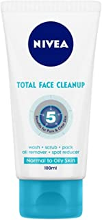 NIVEA Face Wash, Total Face Clean Up, 50ml