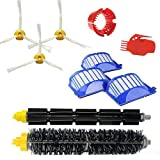 ZXZHL 3 Pack Filter,Side Brush,1 Pack Bristle Brush & Flexible Beater Brush Replacement Accessories kit for iRobot Roomba 600 Series 610 614 620 630 650 655 660 536 551 552 564 585 Vacuum Cleaner