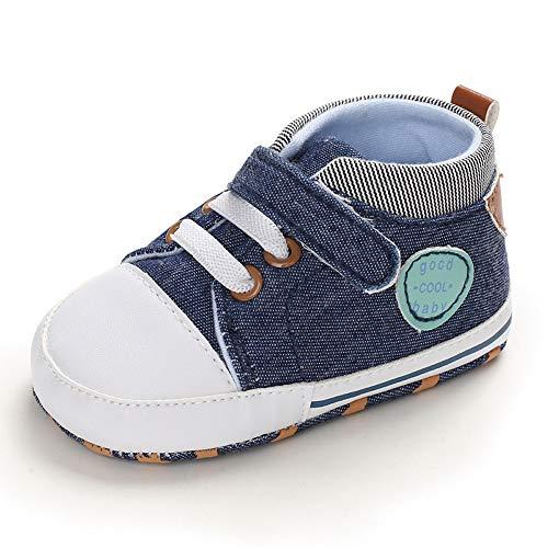 Zapatillas Bebe Niño Zapatos Primeros Pasos Bebé Recién Nacido Azul 6-12 Meses ✅