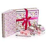 thegiftbox Duftkerze Geschenke für Frauen mit Notizbuch und Stift Geschenke für Mama Damen Luxus...